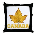 Canada Souvenir Varsity Throw Pillow