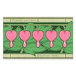 Bleeding Heart Rectangle Sticker 50 pk)