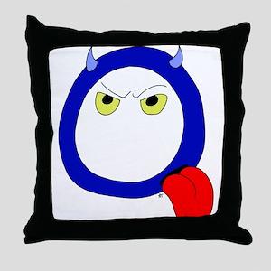 Monster Letter Q Throw Pillow