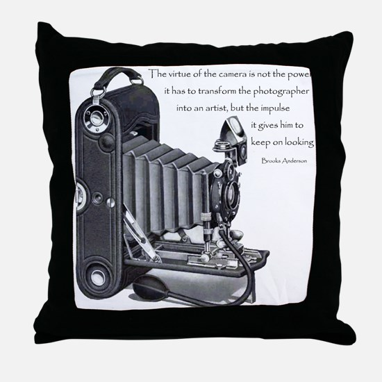 Anderson Camera Quote Throw Pillow
