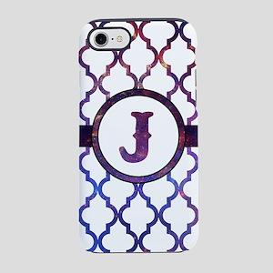 Galaxy Monogram: Letter J iPhone 8/7 Tough Case