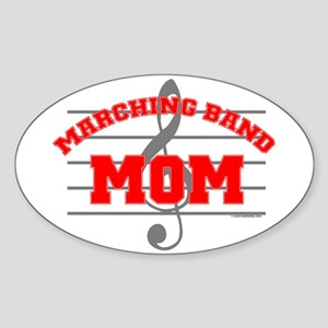 Marching Band Mom Oval Sticker