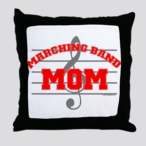 Marching Band Mom Throw Pillow
