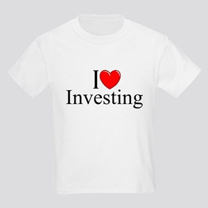 """I Love (Heart) Investing"" Kids Light T-Shirt"
