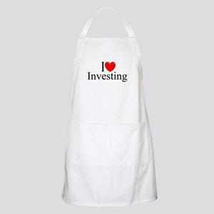 """I Love (Heart) Investing"" BBQ Apron"