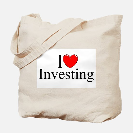 """I Love (Heart) Investing"" Tote Bag"