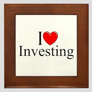 """""""I Love (Heart) Investing"""" Framed Tile"""