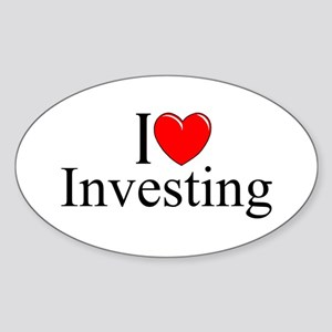 """I Love (Heart) Investing"" Oval Sticker"