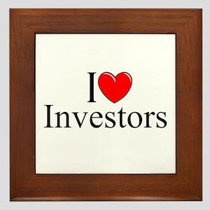 """""""I Love (Heart) Investors"""" Framed Tile"""