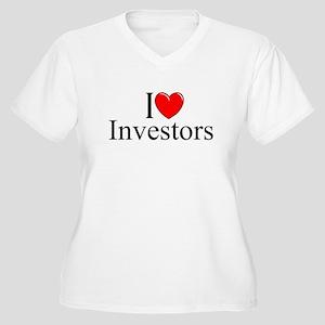 """""""I Love (Heart) Investors"""" Women's Plus Size V-Nec"""