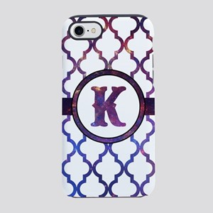 Galaxy Monogram: Letter K iPhone 8/7 Tough Case