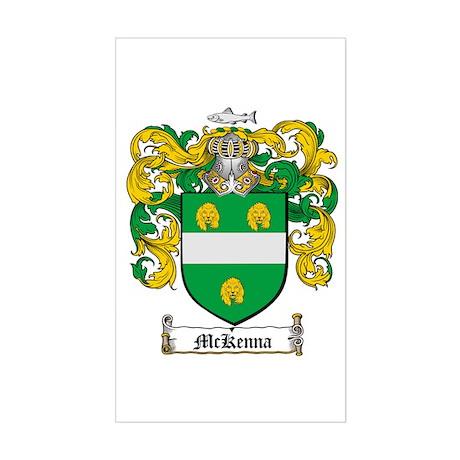 McKenna Family Crest Rectangle Sticker