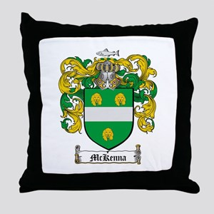 McKenna Family Crest Throw Pillow