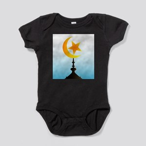 Crescent Moon and Star With Sky Body Suit
