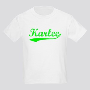Vintage Karlee (Green) Kids Light T-Shirt