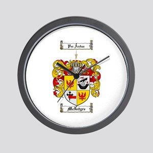 McIntyre Family Crest Wall Clock