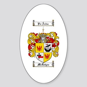 McIntyre Family Crest Oval Sticker