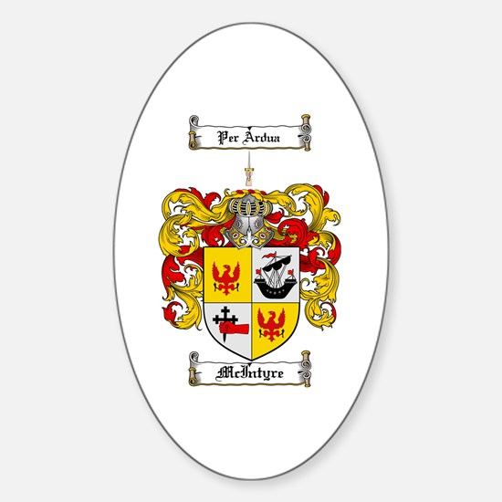 McIntyre Family Crest Oval Decal