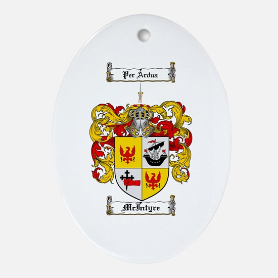 McIntyre Family Crest Oval Ornament