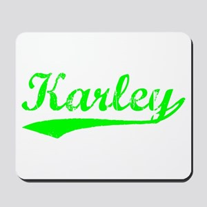 Vintage Karley (Green) Mousepad