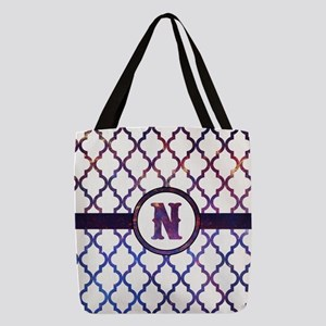 Galaxy Monogram: Letter N Polyester Tote Bag