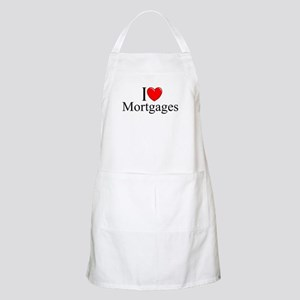 """I Love (Heart) Mortgages"" BBQ Apron"