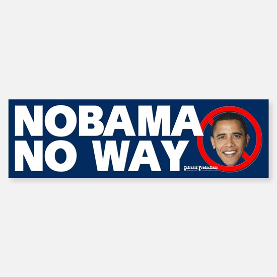 Anti-Obama Bumper Bumper Bumper Sticker