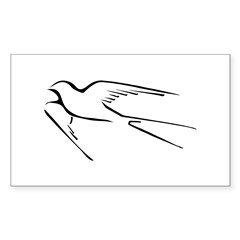 Swallow-tailed Flycatcher Sticker (Rectangle)