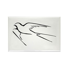 Swallow-tailed Flycatcher Rectangle Magnet