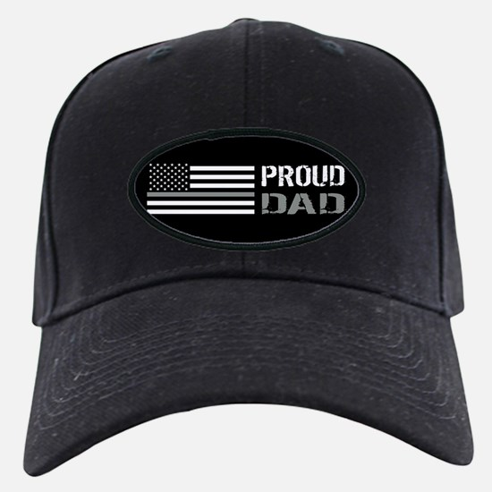 U.S. Flag Grey Line: Proud Da Baseball Hat