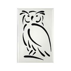 Stylized Owl Rectangle Magnet
