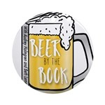 Beer by the Book logo - white Round Ornament