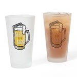 Beer by the Book logo - white Drinking Glass