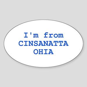 Cinsanatta Ohia Oval Sticker
