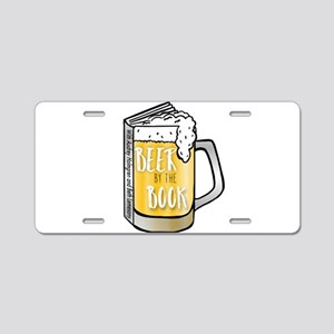 Beer by the Book - logo Aluminum License Plate