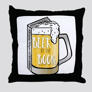 Beer by the Book - logo Throw Pillow