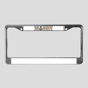 M@SON License Plate Frame