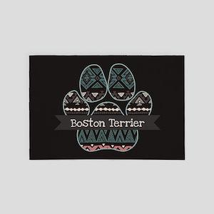 Boston Terrier 4' x 6' Rug