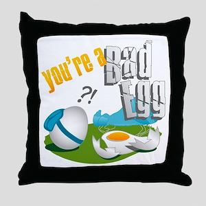 Bad Egg Skydiving Throw Pillow