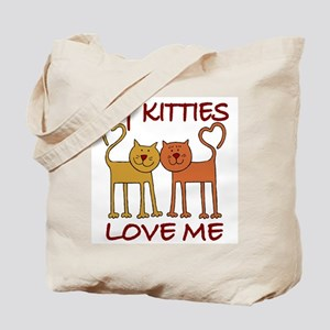 My Kitties Love Me Tote Bag