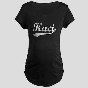 Vintage Kaci (Silver) Maternity Dark T-Shirt