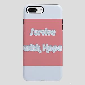 Survive w/ Hope Cancer iPhone 8/7 Plus Tough Case