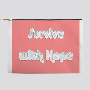 Survive w/ Hope Cancer Survivor Pink 4M Makeup Bag