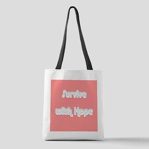 Survive w/ Hope Cancer Survivor Polyester Tote Bag
