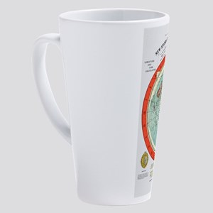 Flat Earth Map 17 oz Latte Mug