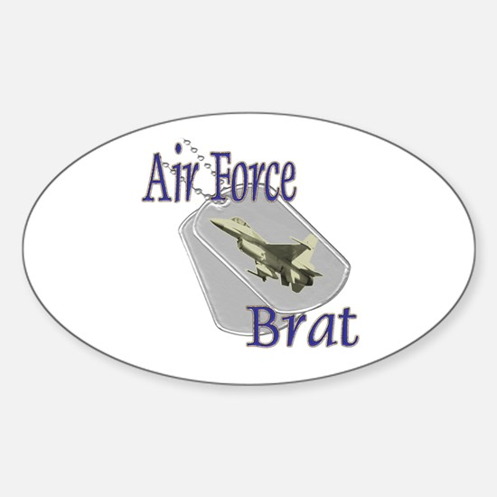 Jet Air Force Brat Oval Decal