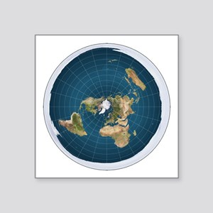 Flat Earth Map Flat Earther Globe Sticker