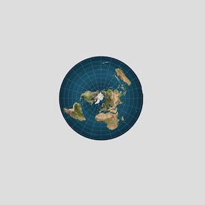 Flat Earth Map Flat Earther Globe Mini Button