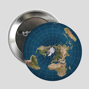"Flat Earth Map Flat Earther Globe 2.25"" Button (10"