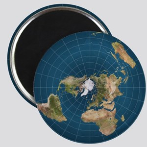 Flat Earth Map Flat Earther Globe Magnets